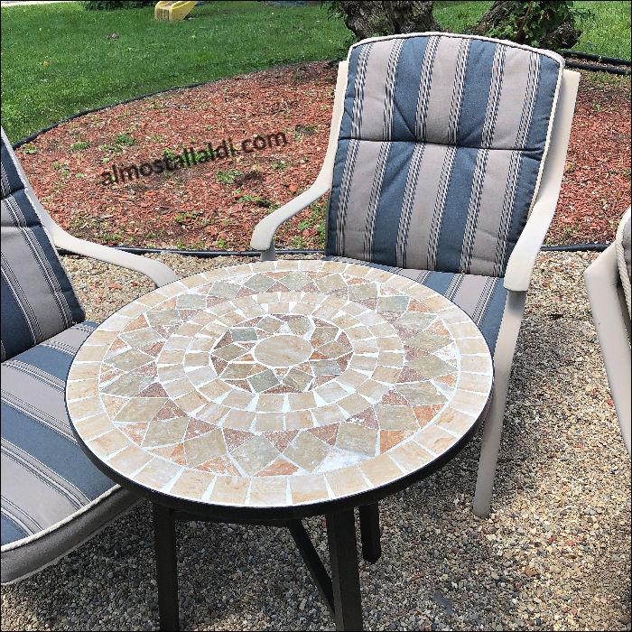 ALDI mosaic table