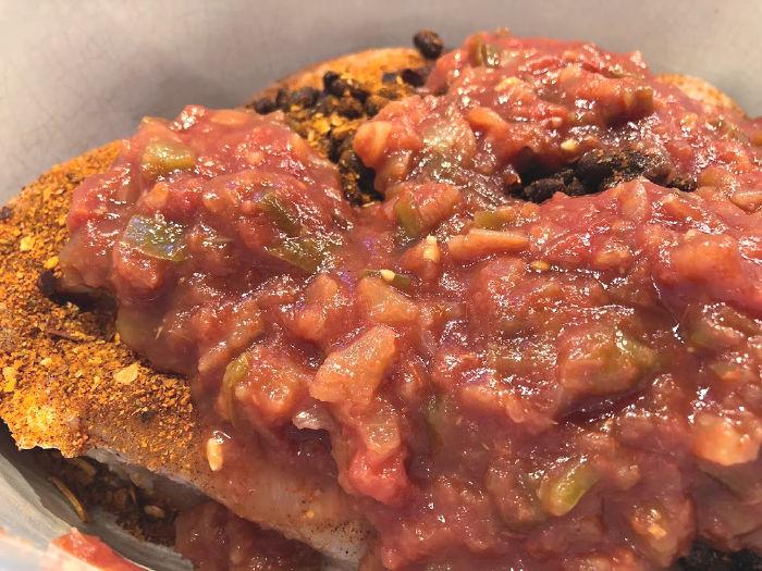 salsa chicken ingredients in Crock-Pot