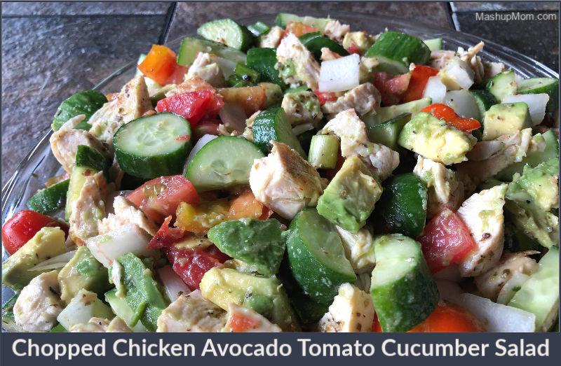 chicken avocado tomato cucumber salad