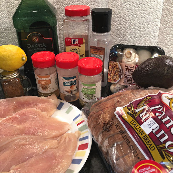 chicken & mushroom sandwiches ingredients