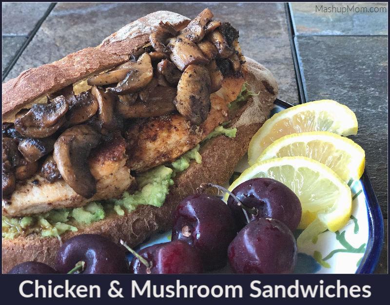 chicken mushroom sandwiches