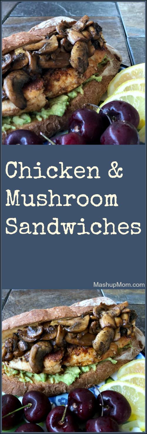 chicken mushroom avocado sandwiches