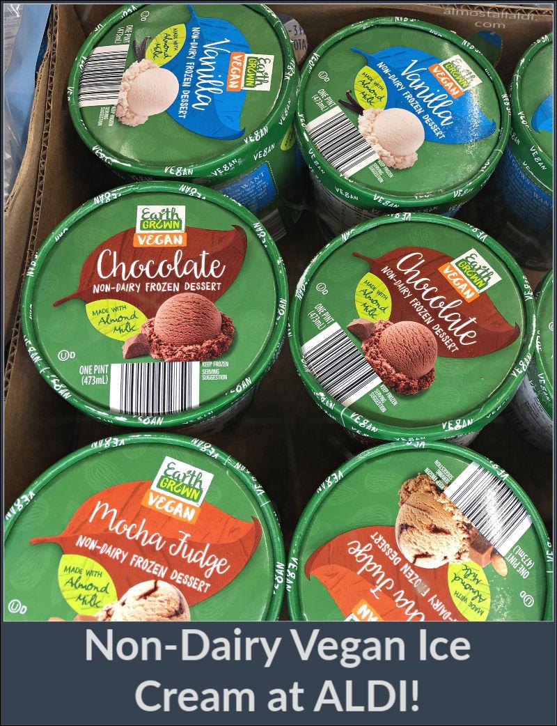 non-dairy vegan ice cream at aldi