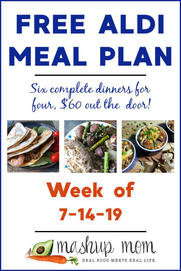 free aldi meal plan week of 7/14/19
