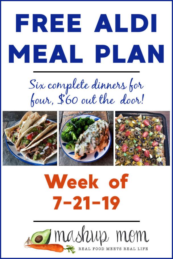 aldi meal plan week of 7/21/19