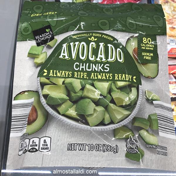 season's choice avocado chunks at aldi