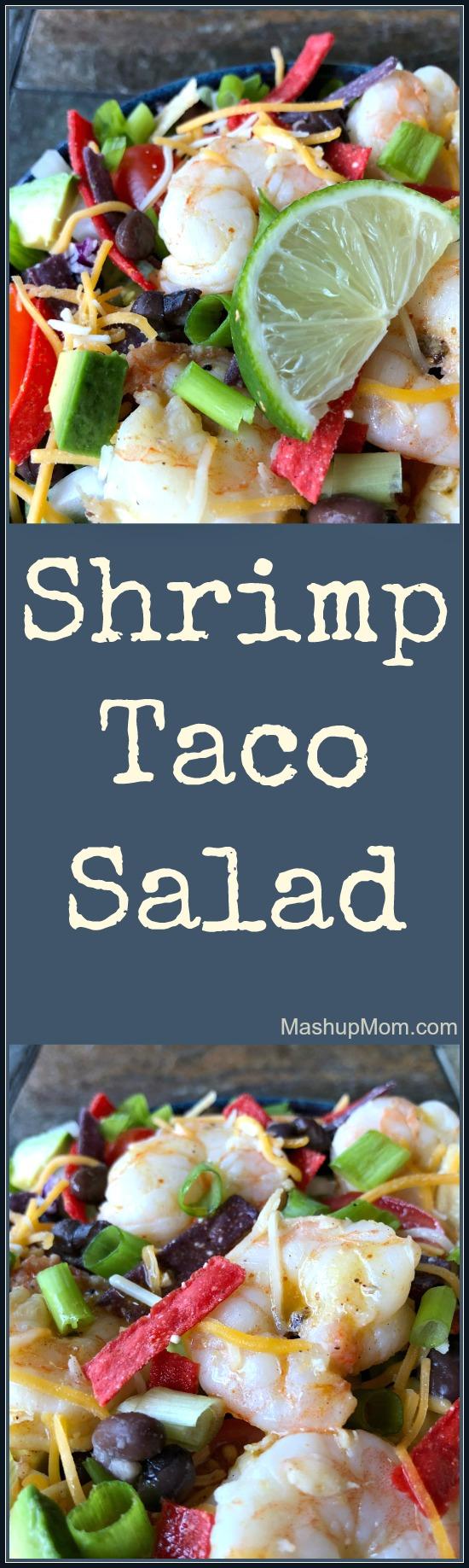 Shrimp Taco Salad With Homemade Marinade Dressing