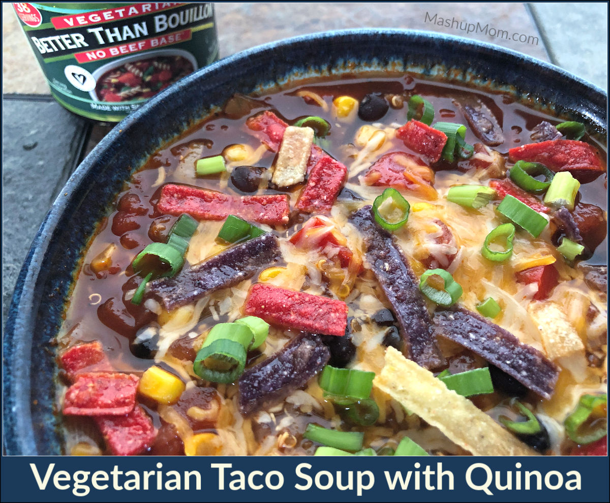 vegetarian taco soup with quinoa