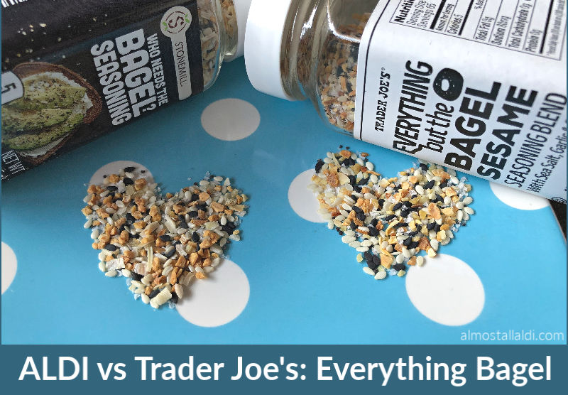ALDI vs Trader Joe's everything bagel seasoning