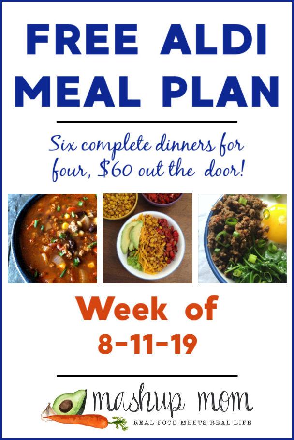 free aldi meal plan week of 8/11/19