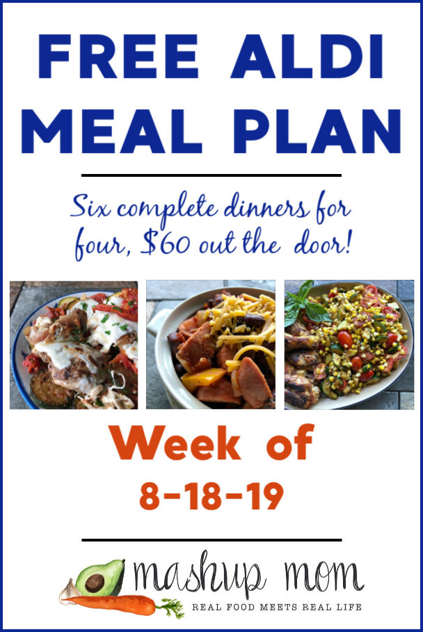 free ALDI meal plan week of 8/18/19