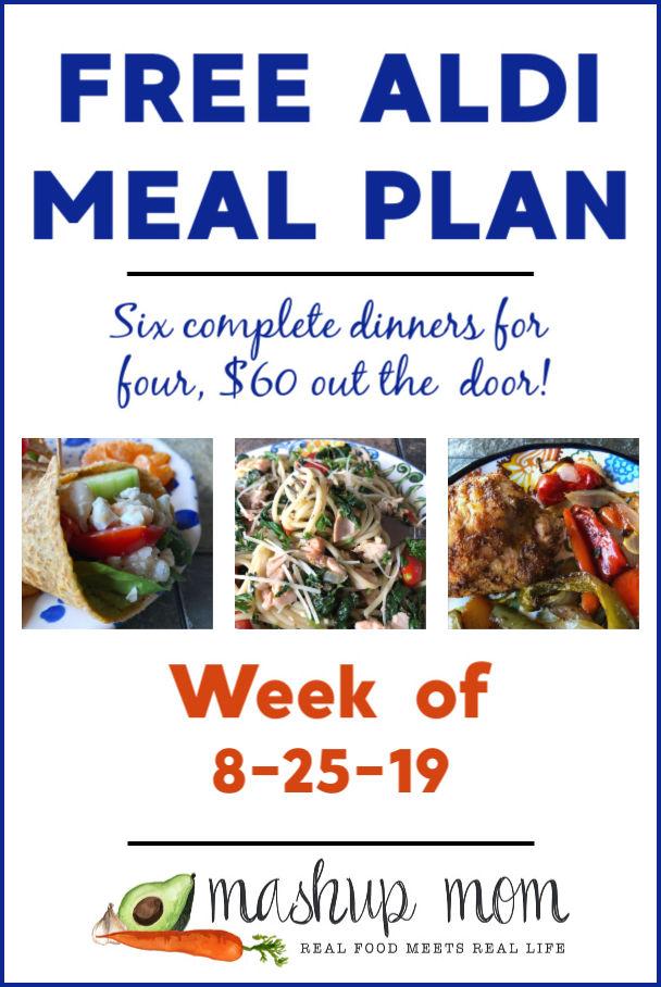 aldi meal plan week of 8/25/19