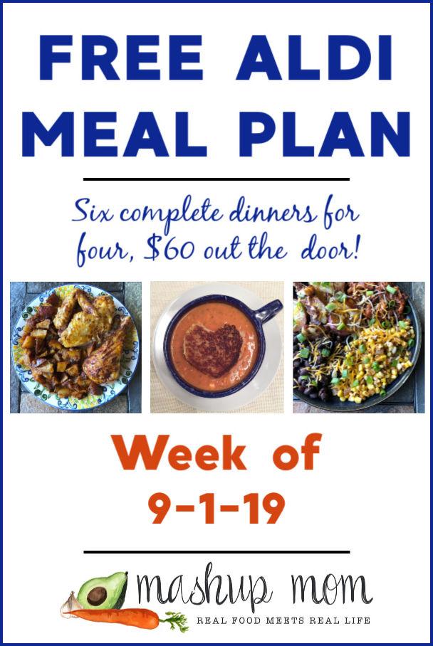 free aldi meal plan week of 9/1/19
