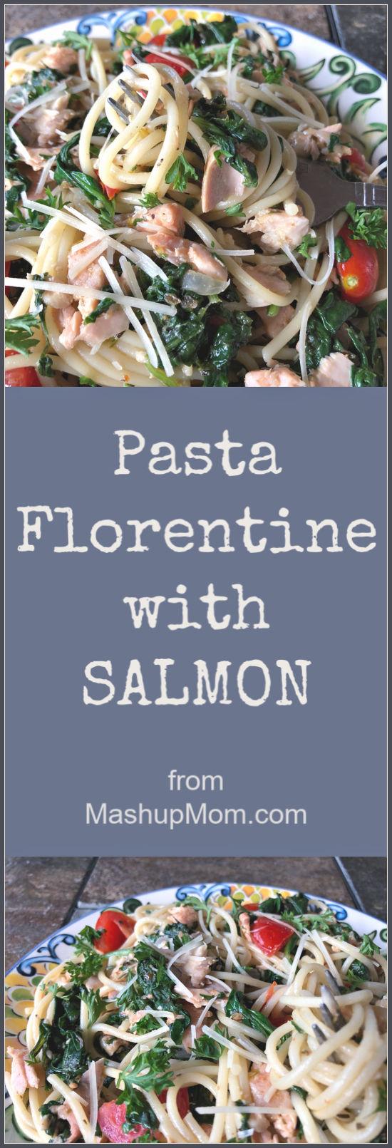 salmon pasta florentine