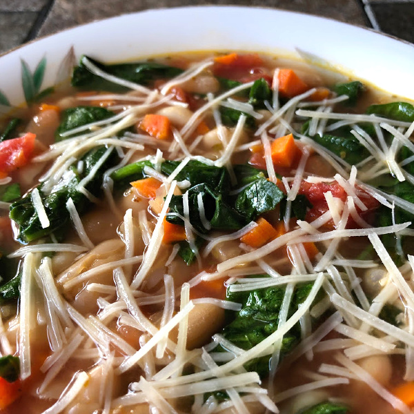 bowl of Meatless Monday white bean soup