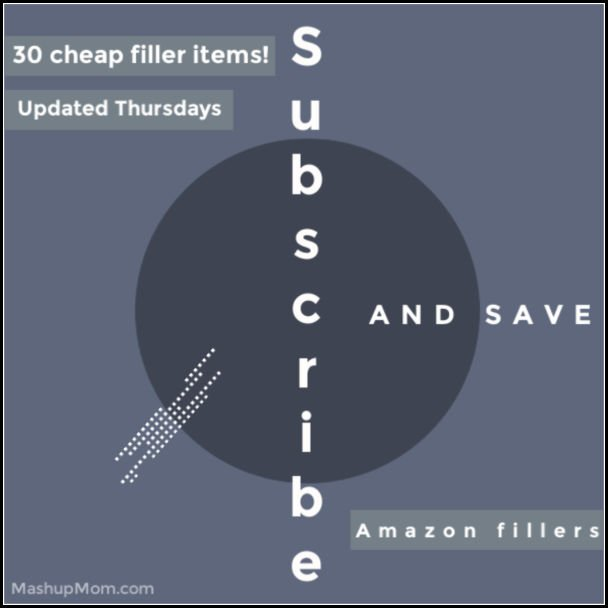 cheap Amazon subscribe & save filler items -- list is updated every Thursday with current products!