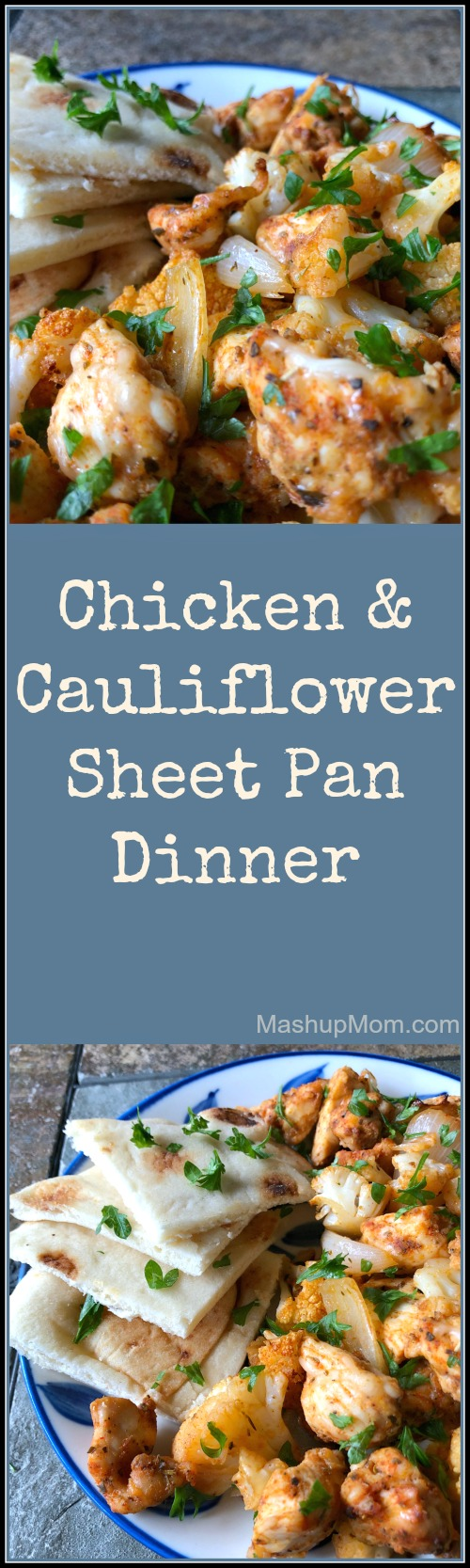 chicken & cauliflower sheet pan dinner