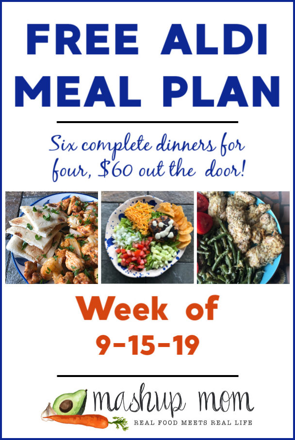 free aldi meal plan week of 9/15/19