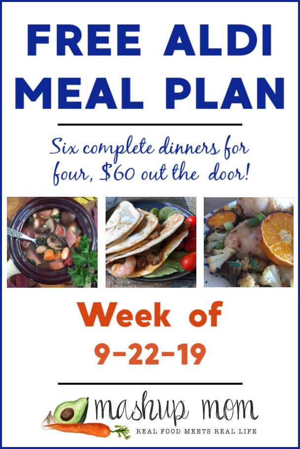 free ALDI meal plan week of 9/22/19