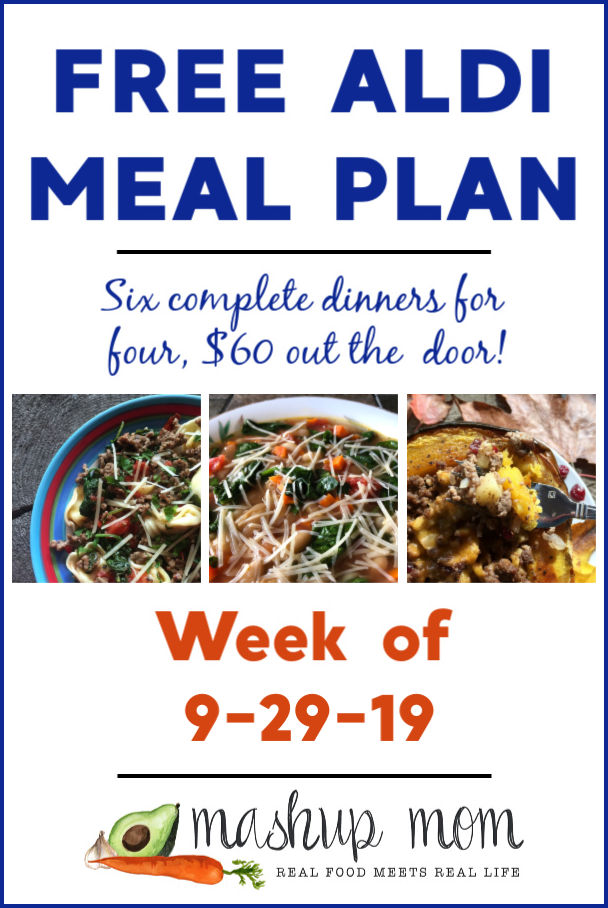 free ALDI meal plan week of 9/29/19