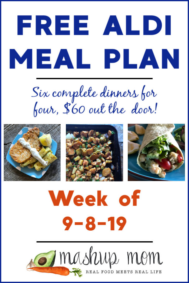 free aldi meal plan week of 9/8/19