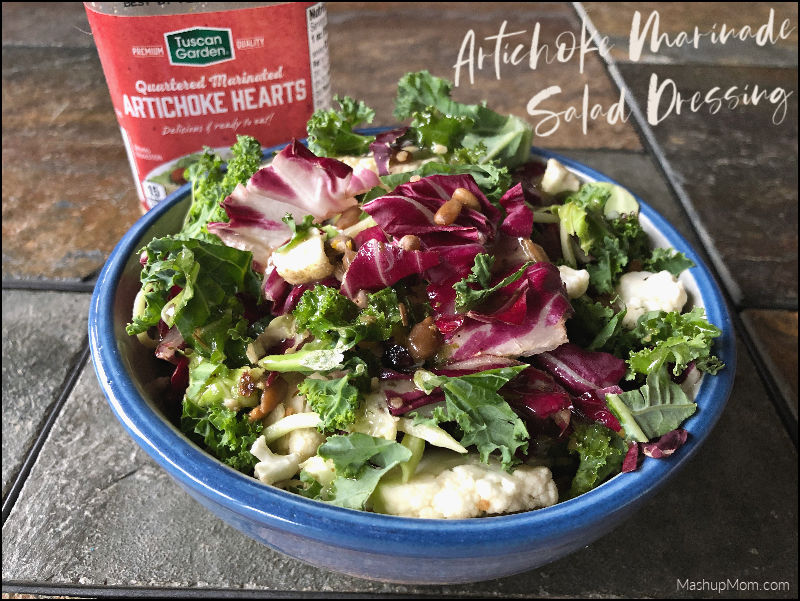 artichoke marinade salad dressing on a salad