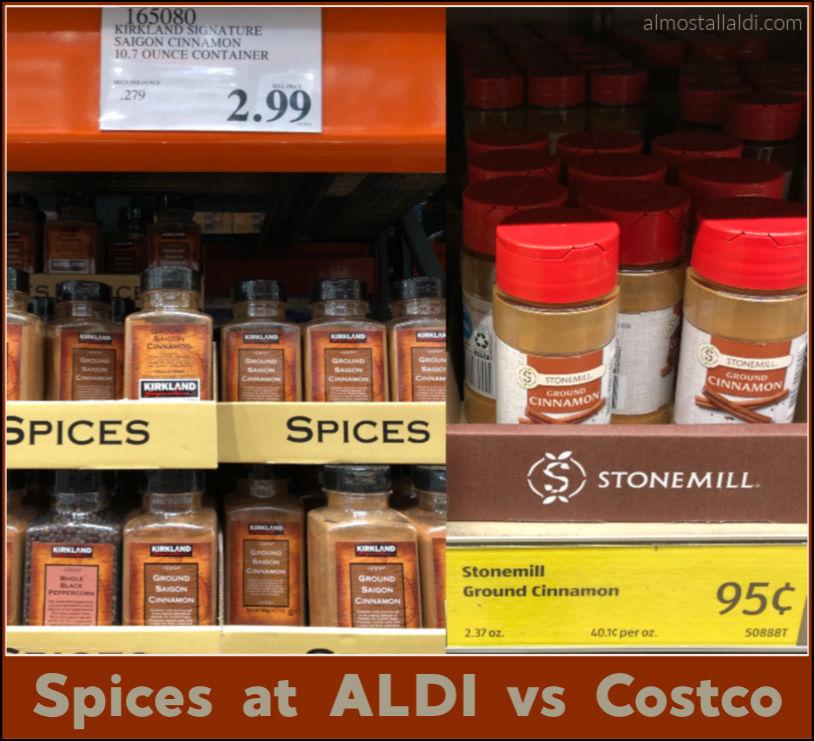 ALDI spices vs Costco spices