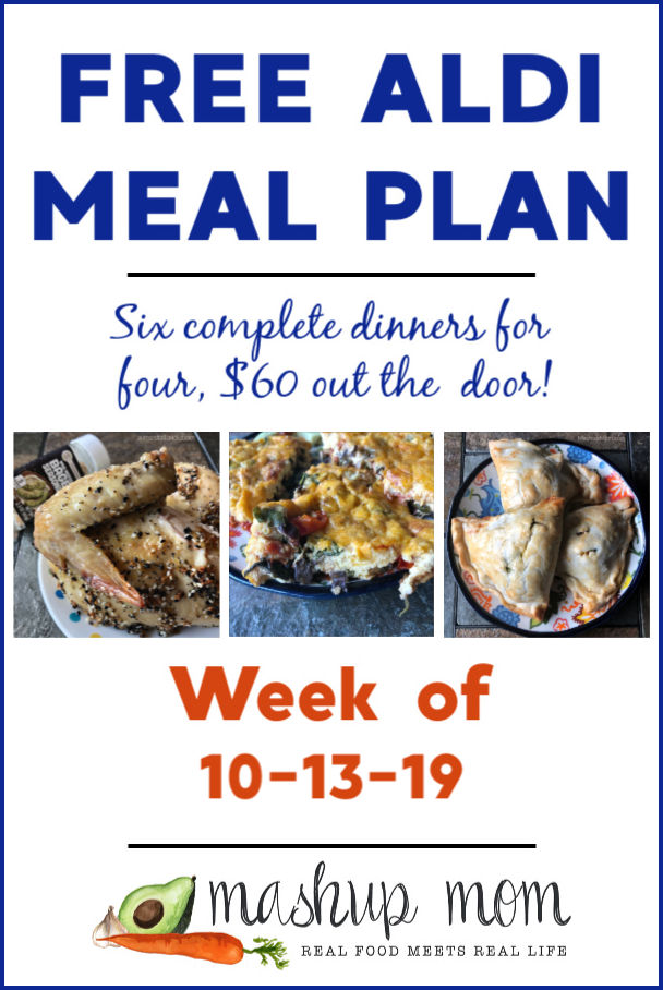 free ALDI meal plan week of 10/13/19
