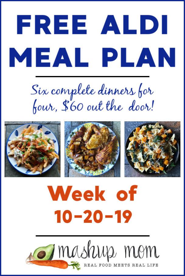 free ALDI meal plan week of 10/20/19