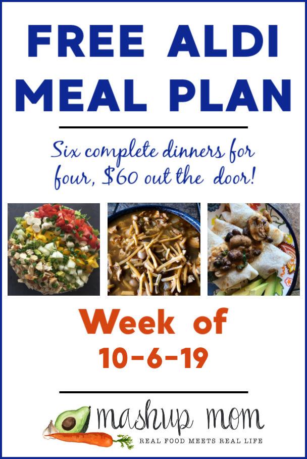 free aldi meal plan week of 10/6/19