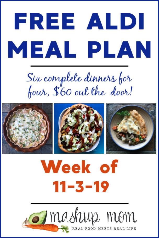 free ALDI meal plan week of 11/3/19