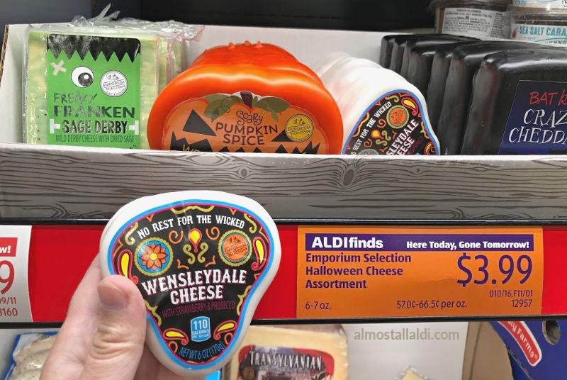 halloween cheese on the shelf at ALDI