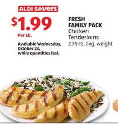 chicken tenderloin on sale at ALDI