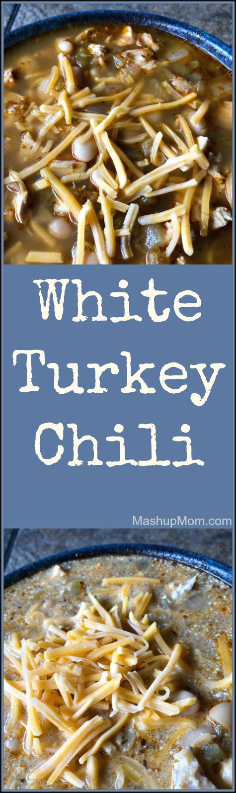 white turkey chili is an easy post-Thanksgiving recipe for leftover turkey
