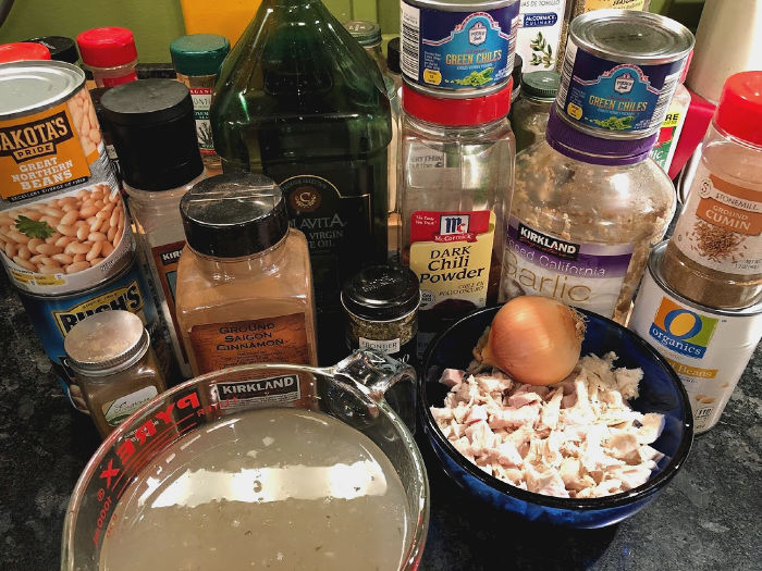 white turkey chili ingredients