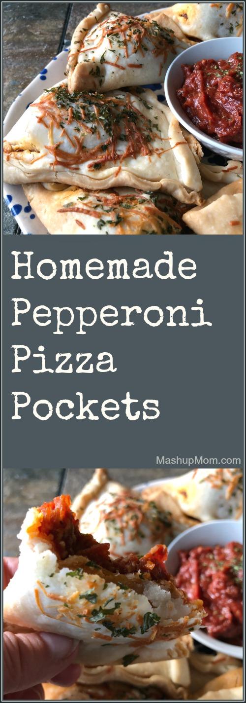 homemade pepperoni pizza pockets (copycat Hot Pockets!)