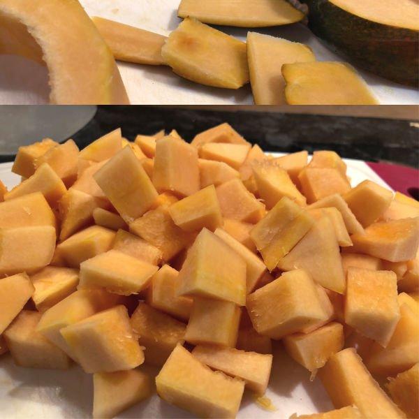 cubed acorn squash