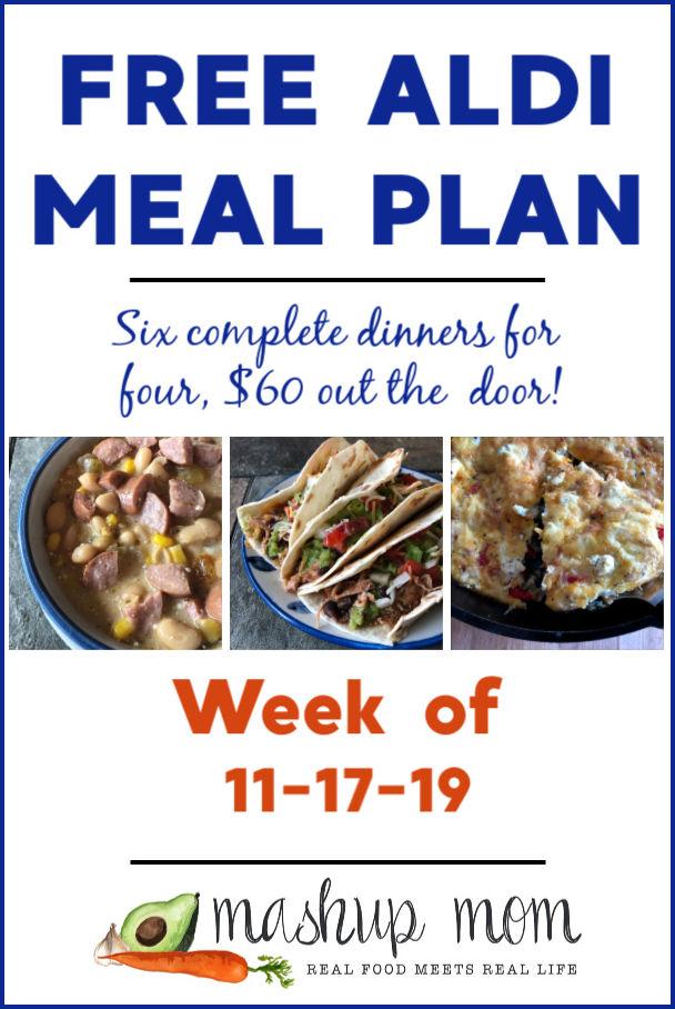 free ALDI meal plan week of 11/17/19