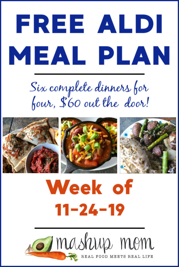 free ALDI meal plan week of 11/24/19