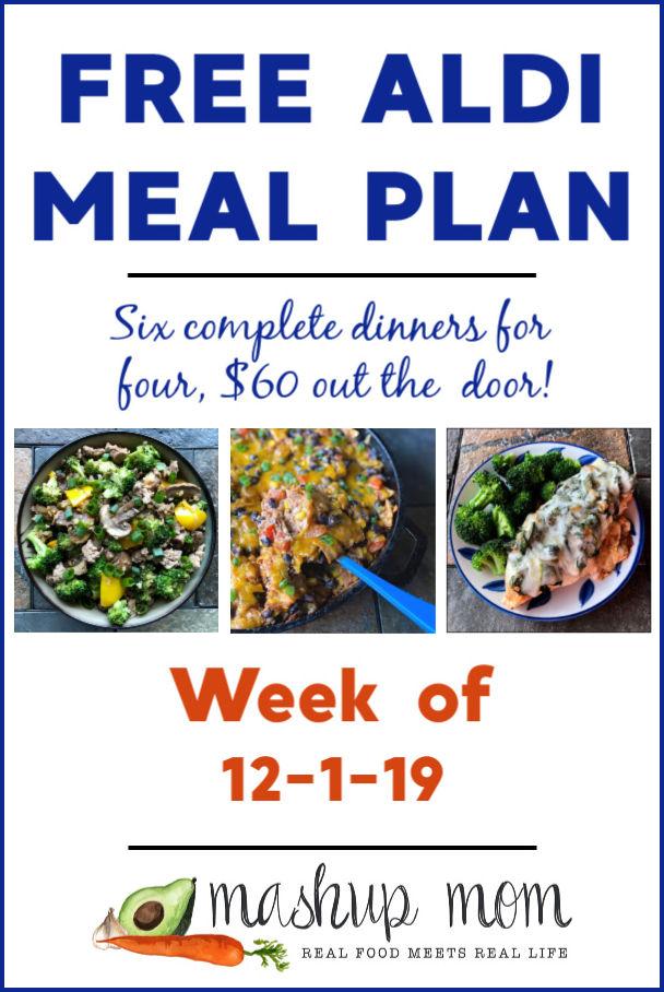 free ALDI meal plan week of 12/1/19