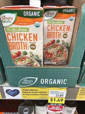 organic chicken broth on sale at aldi