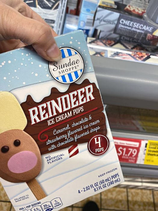 Sundae Shoppe reindeer pops at ALDI