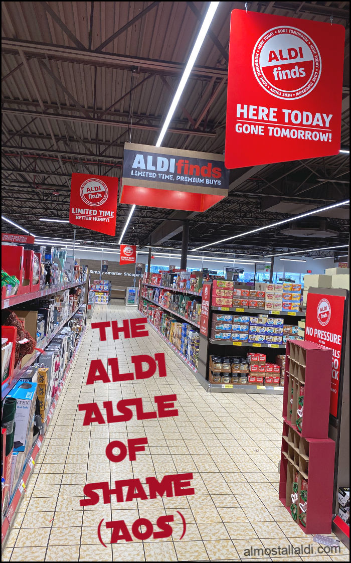 what is the ALDI Aisle of Shame (AOS)