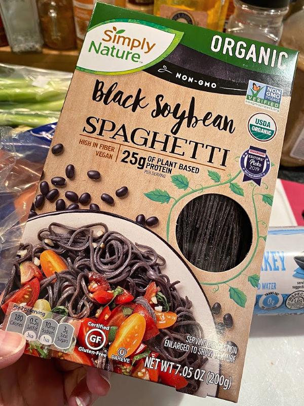 simplynature organic black soybean spaghetti from aldi