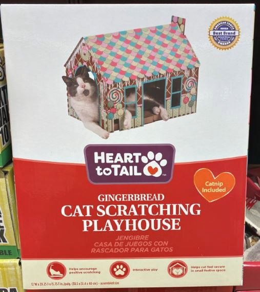 cat scratching house at ALDI this week