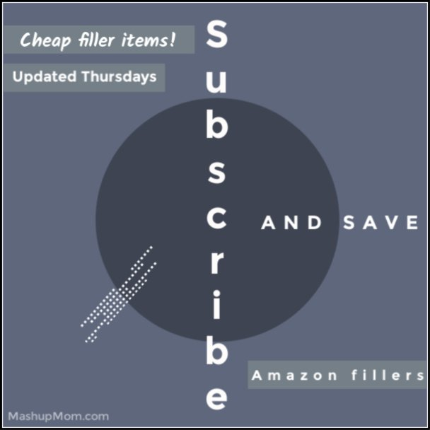 cheap subscribe & save filler items on Amazon
