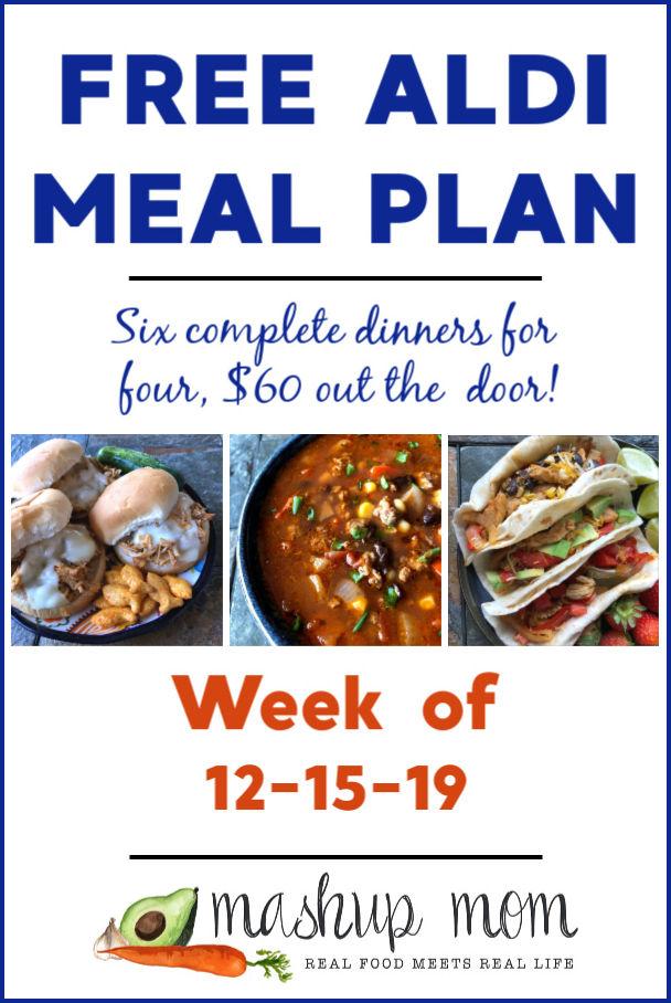 free aldi meal plan week of 12/15/19