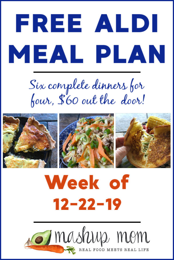 free ALDI meal plan week of 12/22/19