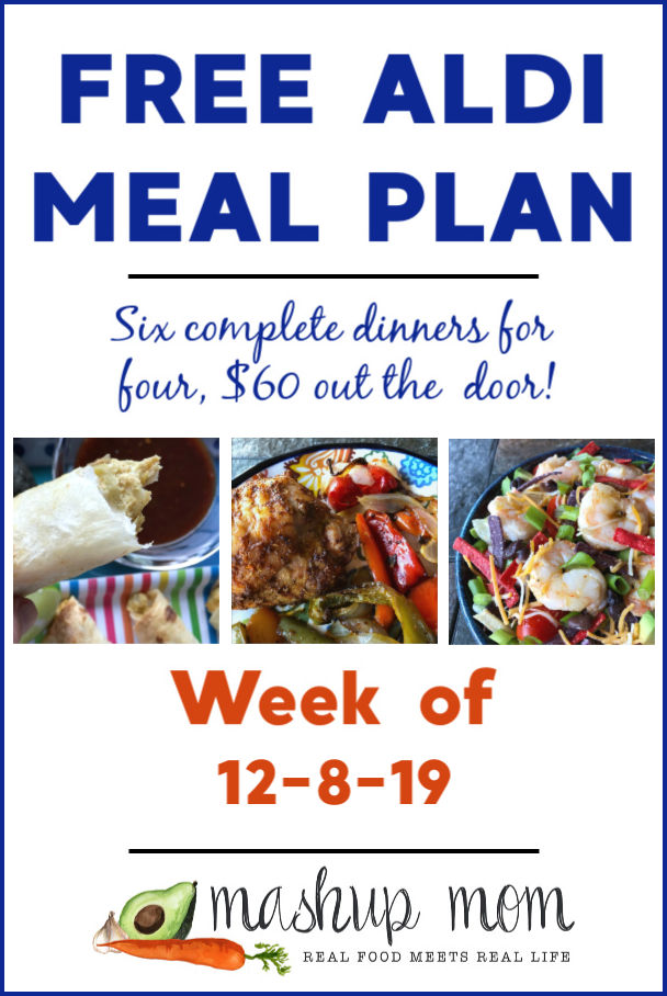 free ALDI meal plan week of 12/8/19