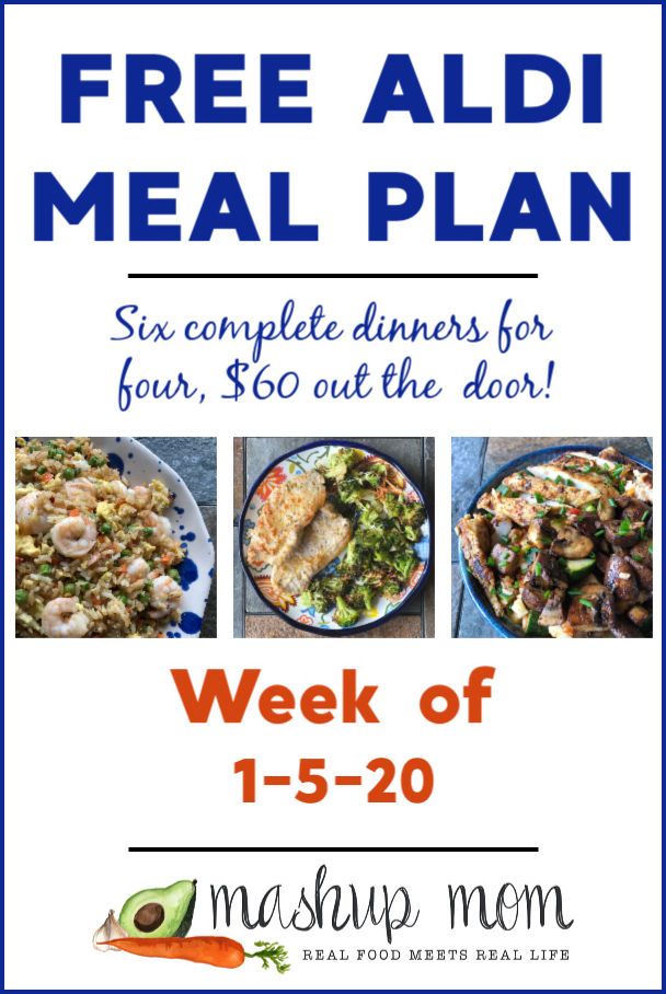 free ALDI meal plan week of 1/5/20
